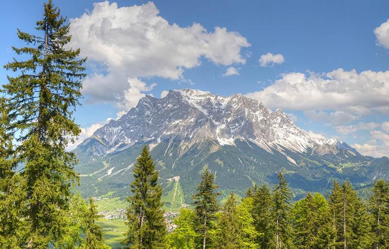 Die Zugspitze in Bayern