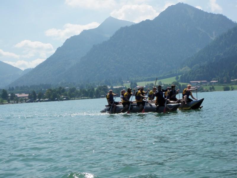 Floßbau Teambuilding Schliersee